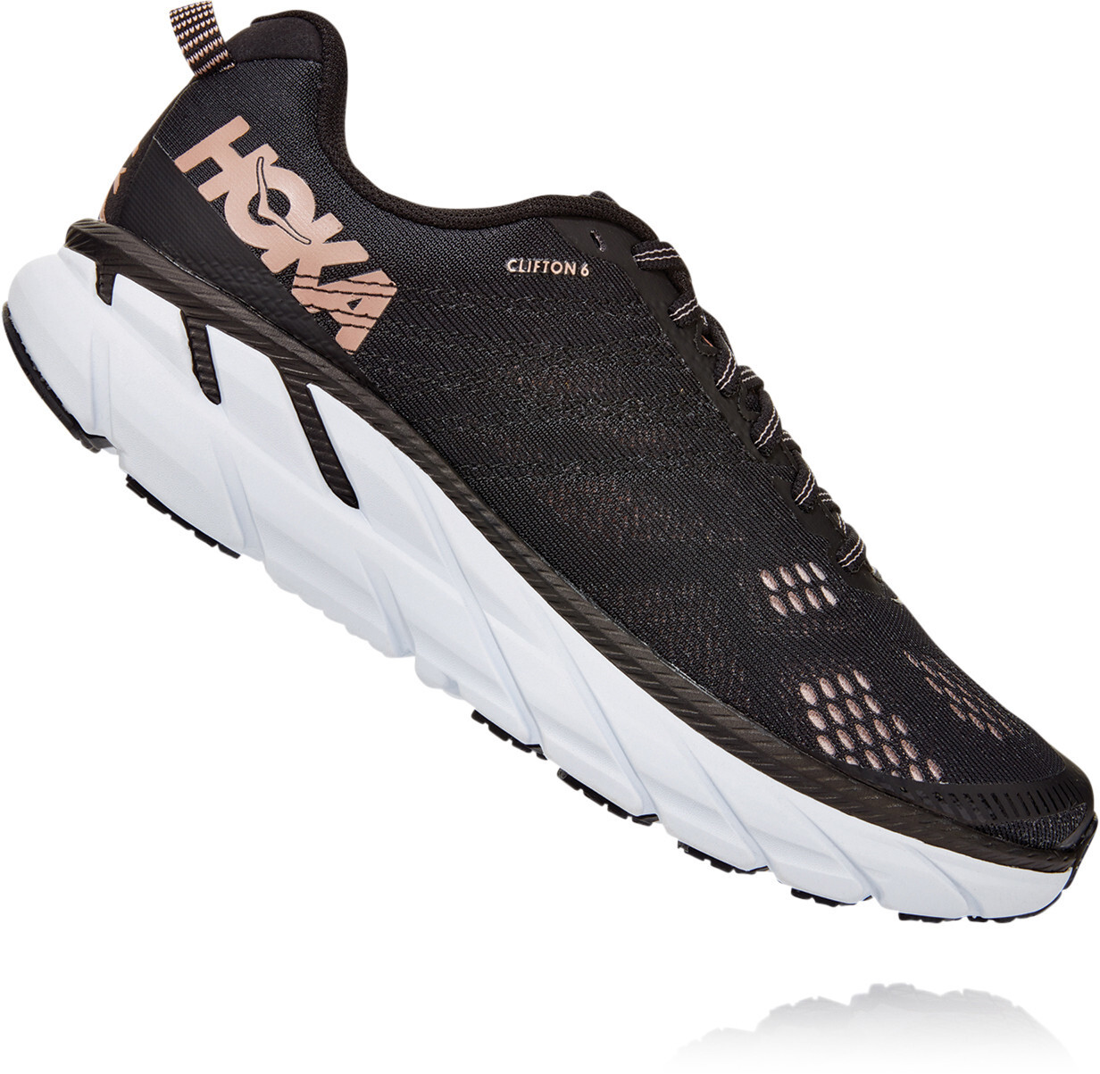 Hoka One One Clifton 6 Shoes Women blackrose gold